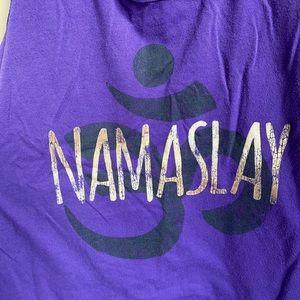 Tops - 'Namaslay' tank top size M